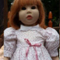 "-1990's 21 Vinyl doll. Made by German Doll Artists ""Groessle & Schmidt-"