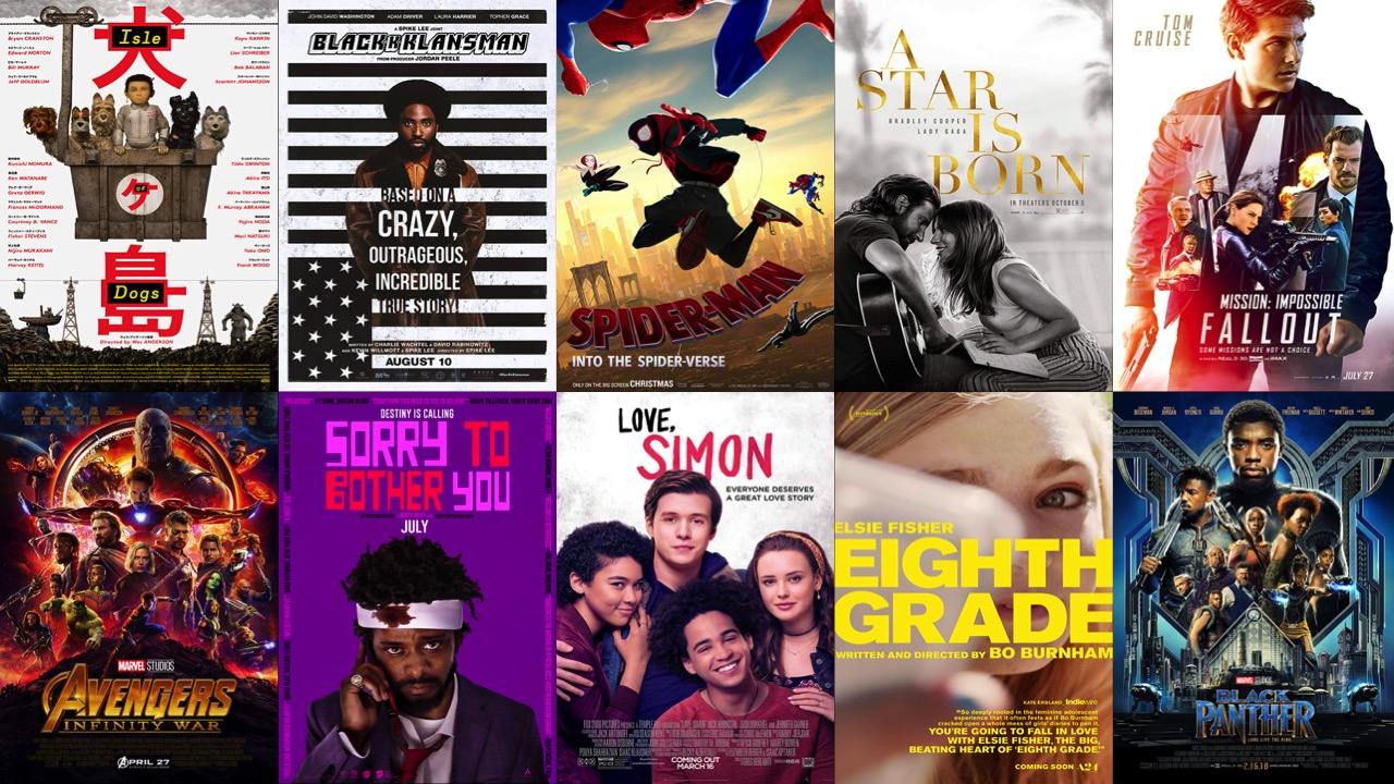 Top 10 Best Movies of 2018!