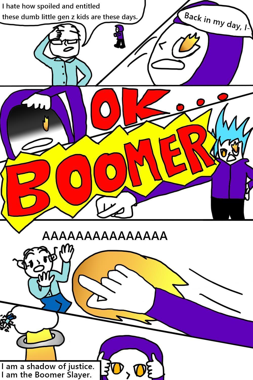"""OK Boomer"" by James Liu"