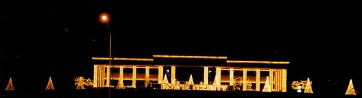 Bowie County Courthouse Christmas Lights
