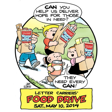 Letter Carriers' Food Drive Saturday May 10 2014