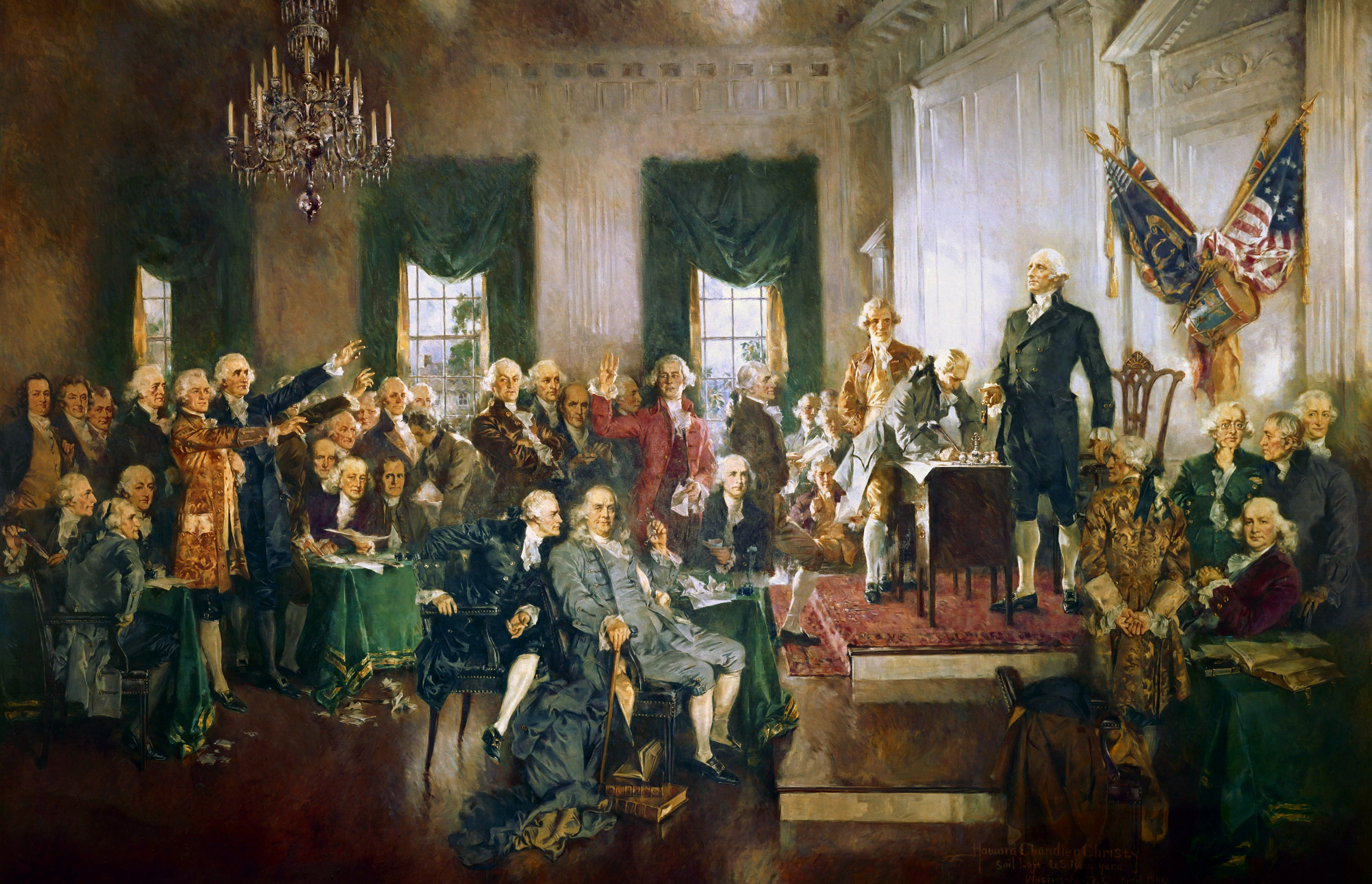 Scene at the Signing of the Constitution of the United States