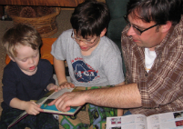 Homeschool Dad and Sons