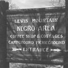 Jim Crow Era - Lewis Mountain Negro Area