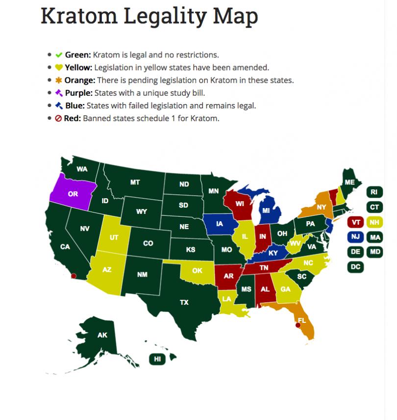 Kratom Legality Map
