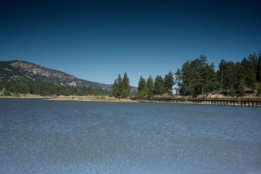 View of Fawnskin from Big Bear Lake