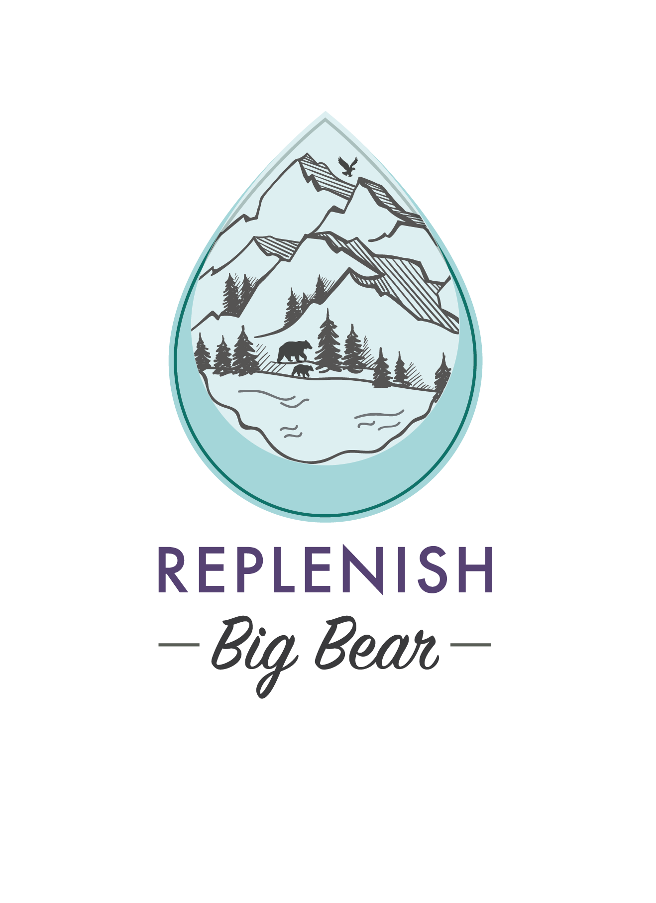 Replenish Big Bear Raindrop with Mountains