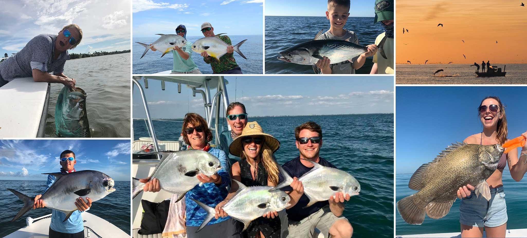 sanibel fishing charter collage