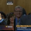 Rick Warren and Elton John at senate hearing on global health programs.