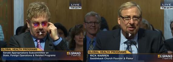 Rick Warren & Elton John, C-Span