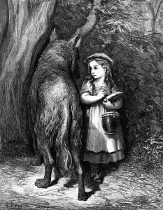 Wolf deceiving