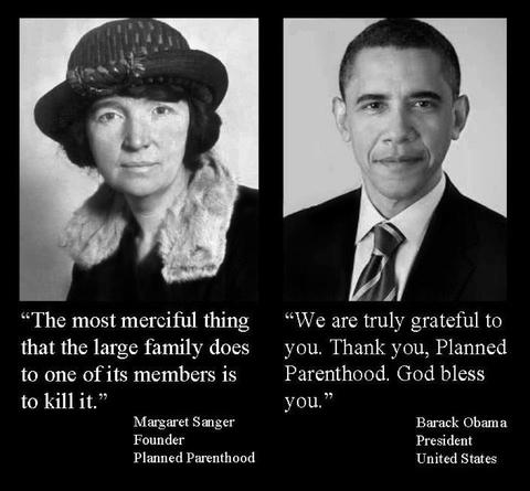 Margaret Sanger and Barack Obama