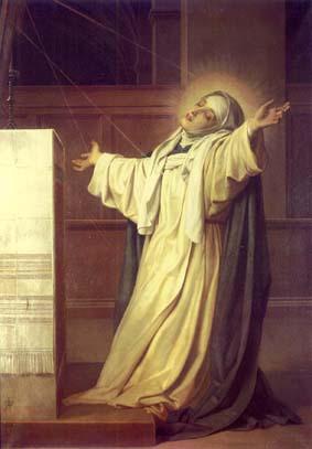 Saint Catherine of Sienna praying