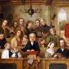 The Village Choir. John Watkins Chapman (Fl.1853-1903). Oil On Canvas.