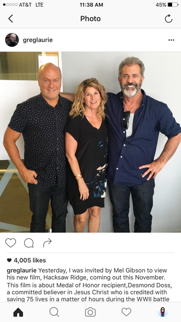 Greg Laurie and Mel Gibson