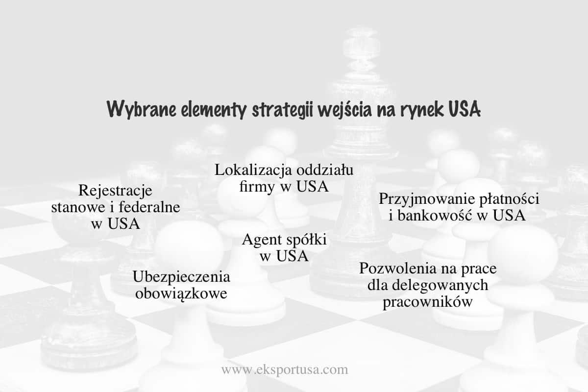Elementy wejścia na rynek USA