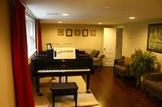 Remodeled piano room