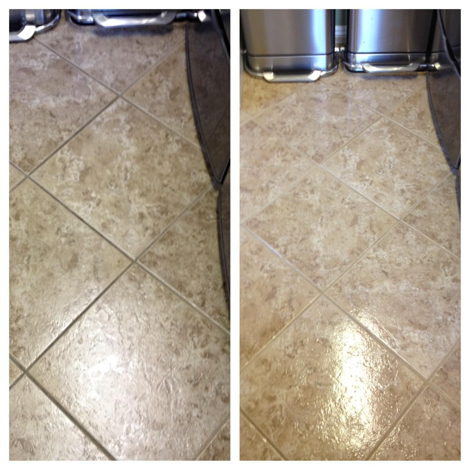 tile cleaning before and after