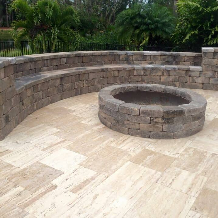 Naples Fire Pit Installation