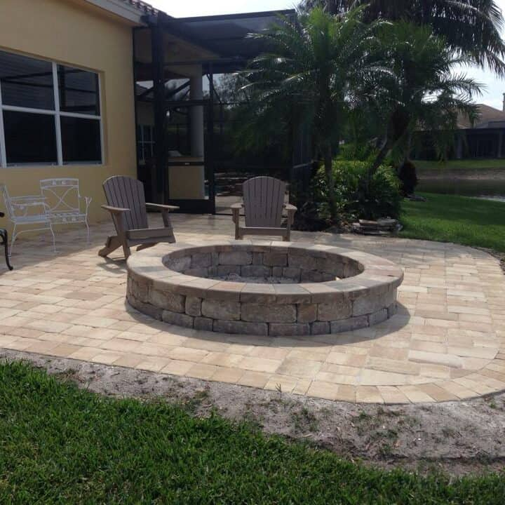Miromar Lakes Fire Pit Installation