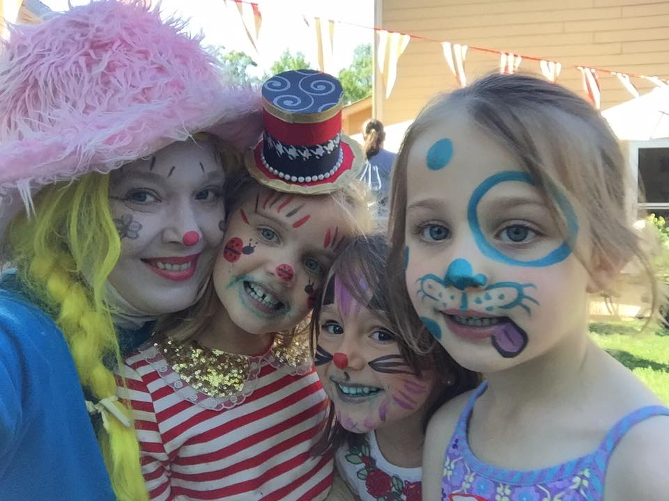 Face Paint with Corky the Clown is the best