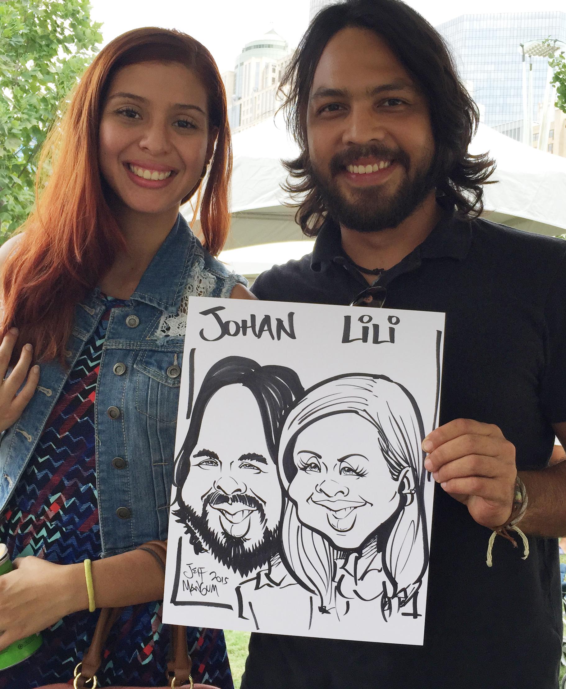 Uptown Funk Caricatures