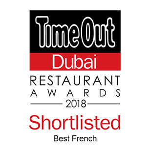 La Serre - Best Restaurant Award 2018 - TimeOut Dubai