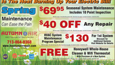 Autumn Air spring coupon 2018