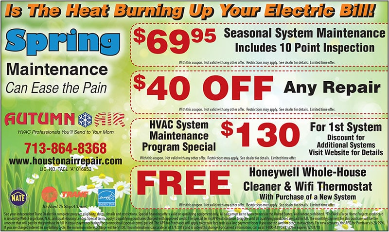 Air Conditioning Discounts in Houston