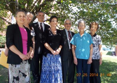 Left to Right - The Nolins Sharon, Susan, Douglas, Rachel, Ken, Nancy & Ada Margaret Hutchison