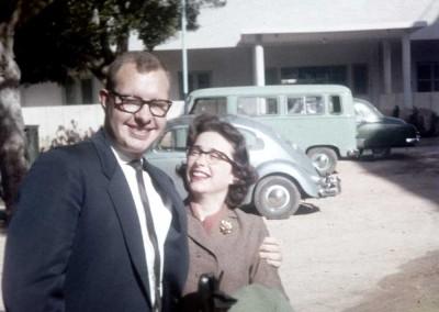 Jim and Mary Ann Milhone - 1962