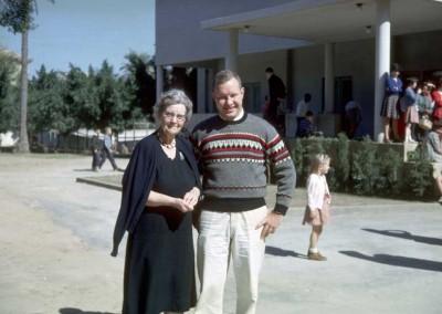 Mrs Hanna and Jim Milhone