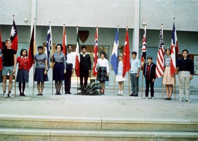 1966 Students With Flags