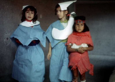 1972 Thanksgiving Costumes - Barbara Zancocchia, Diana Antonescu, Caroline Moutia