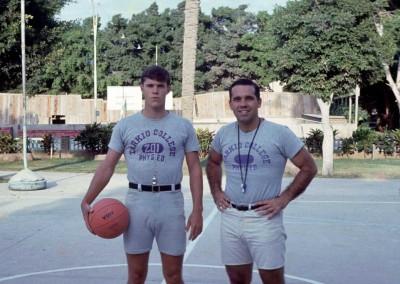 Len Millison on left