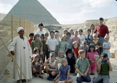 Janie Walters' Class Field Trip to Pyramids - late 60's.