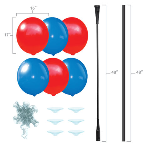 BalloonBobber 6 Balloon Cluster Tree Kit Specs