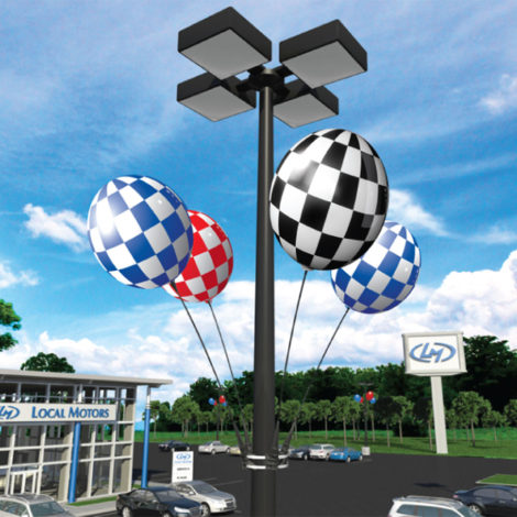 BalloonBobber 4 Pack Light Pole Kit Dealership