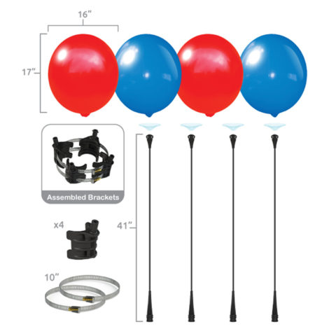 BalloonBobber 4 Pack Light Pole Kit Specs