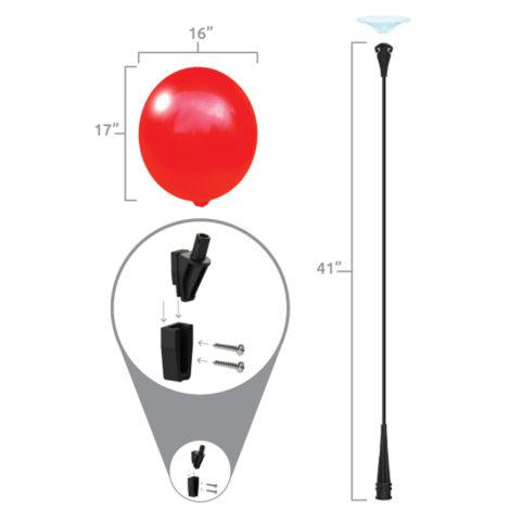 BalloonBobber A Frame Bracket Kit Specs