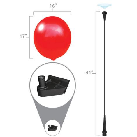 BalloonBobber Car Window Clip Kit Specs