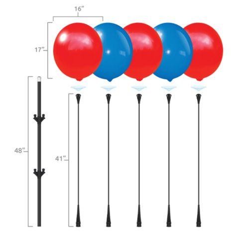 BalloonBobber Cluster Pole Kit Specs 2