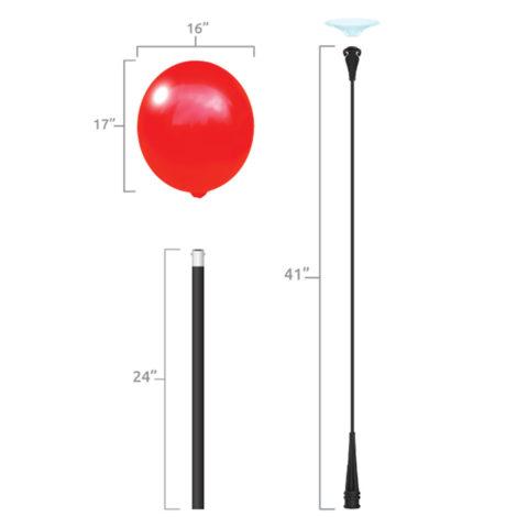 BalloonBobber Short Pole Kit Specs