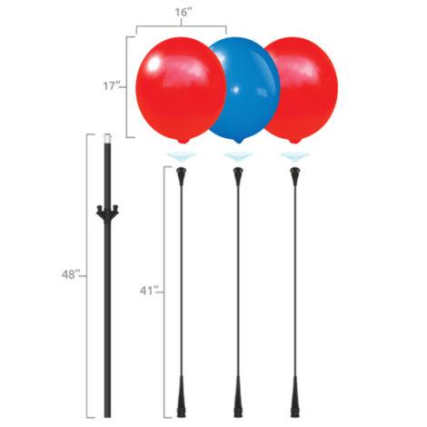 BalloonBobber Triple Cluster Pole Kit Specs 2