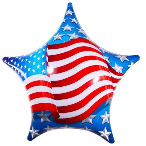 PermaShine American Flag Star Balloon
