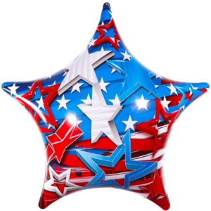PermaShine Patriotic Star Balloon