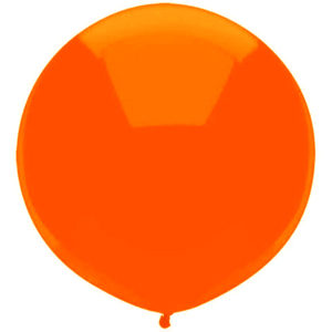 Helium Balloon Pumpkin Orange