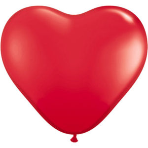 Helium Balloon Red Heart