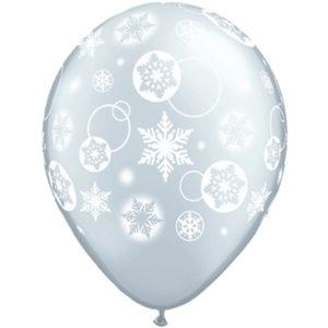 Helium Balloon Snowflakes