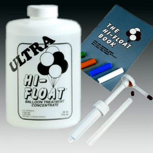Ultra Hi-Float Balloon Extender 24oz. Book and Pump